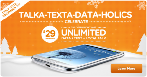 Wind Mobile Canada $29 Holiday Plan 2012 Boxing Week