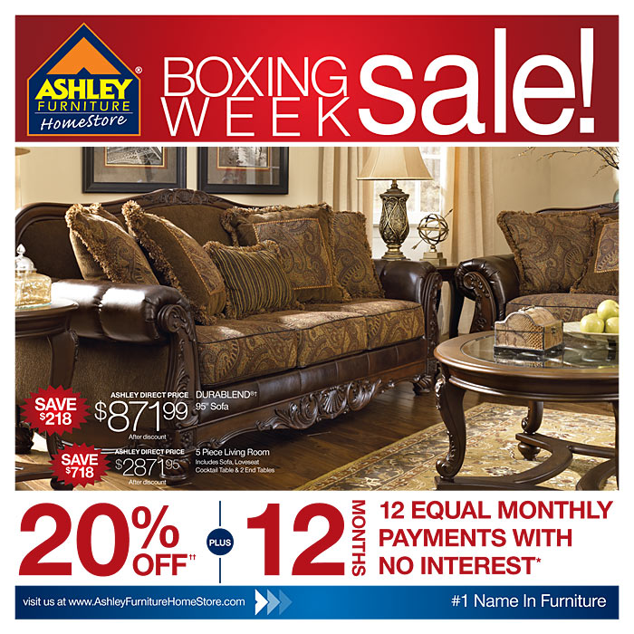 Ashley Furniture Warehouse Boxing Week Event Boxing Day