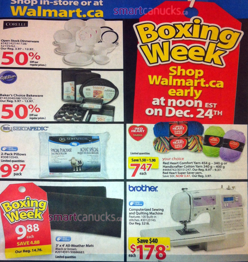 Browse the Walmart Boxing Day Deals & Flyer, and get the best Sales & derpychap.ml't miss the Walmart Canada Boxing Day Flyer Sale on electronics, appliances, video games, furniture, toys, clothing, and more.