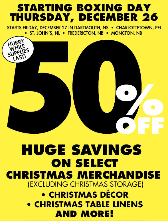 Bed Bath And Beyond Boxing Day Sales And Deals Canada 2013 Boxing