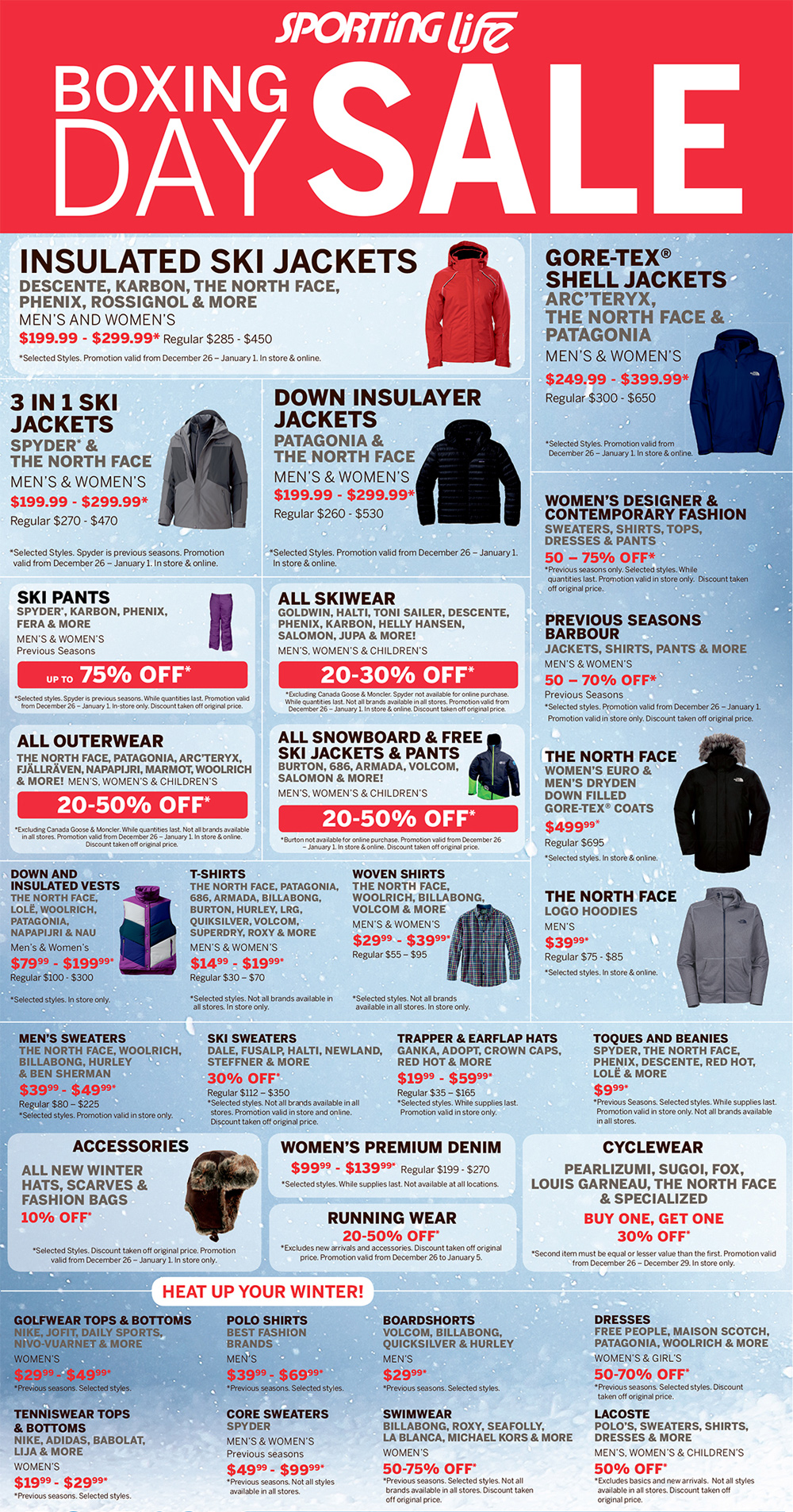 1504b43c92 Sporting Life Boxing Day Flyer Sales and Deals Canada 2013.  PROMOTIONS BOXDAY PG1 DEC24. Check out Sporting Life s ...