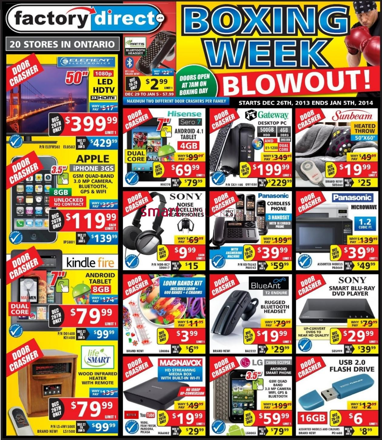 factory direct boxing week flyer sales and deals canada 2013 boxing day canada