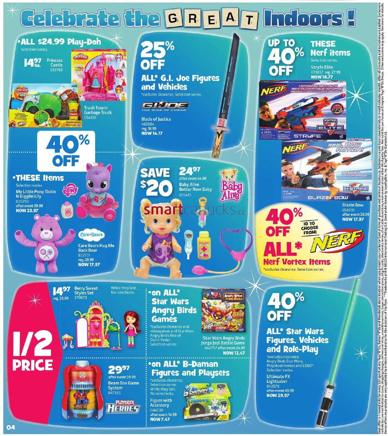 R Flyers Toys R Us Canad...
