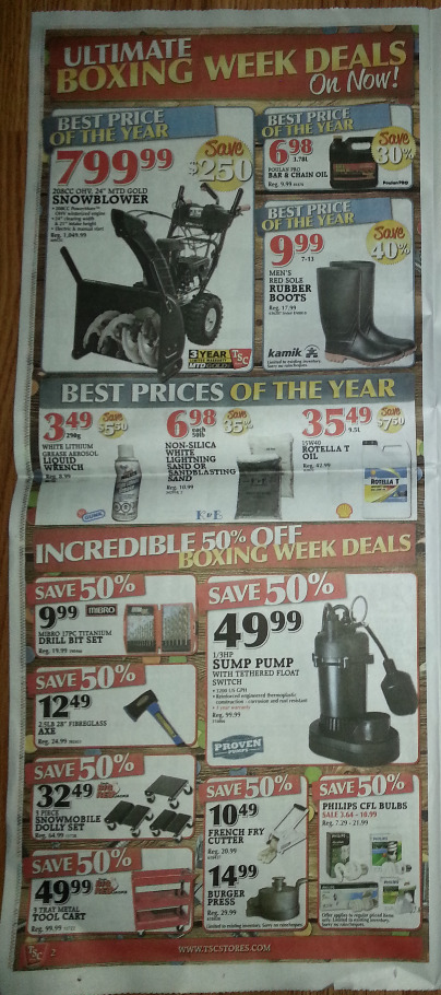 TSC Canada Boxing Day Flyer, Sales and Deals 2013 › Boxing ...