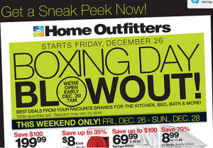 Home Outfitters Canada Boxing Day