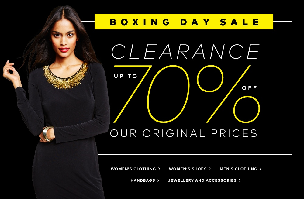 Hudson's Bay Canada Boxing Day & Boxing Week Sale. Hudson's Bay Canada will have a huge Boxing Day sale this year! There are many items on sale, and some are on sale for 70% off.