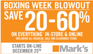 Mark's Boxing Day:Week Blowout